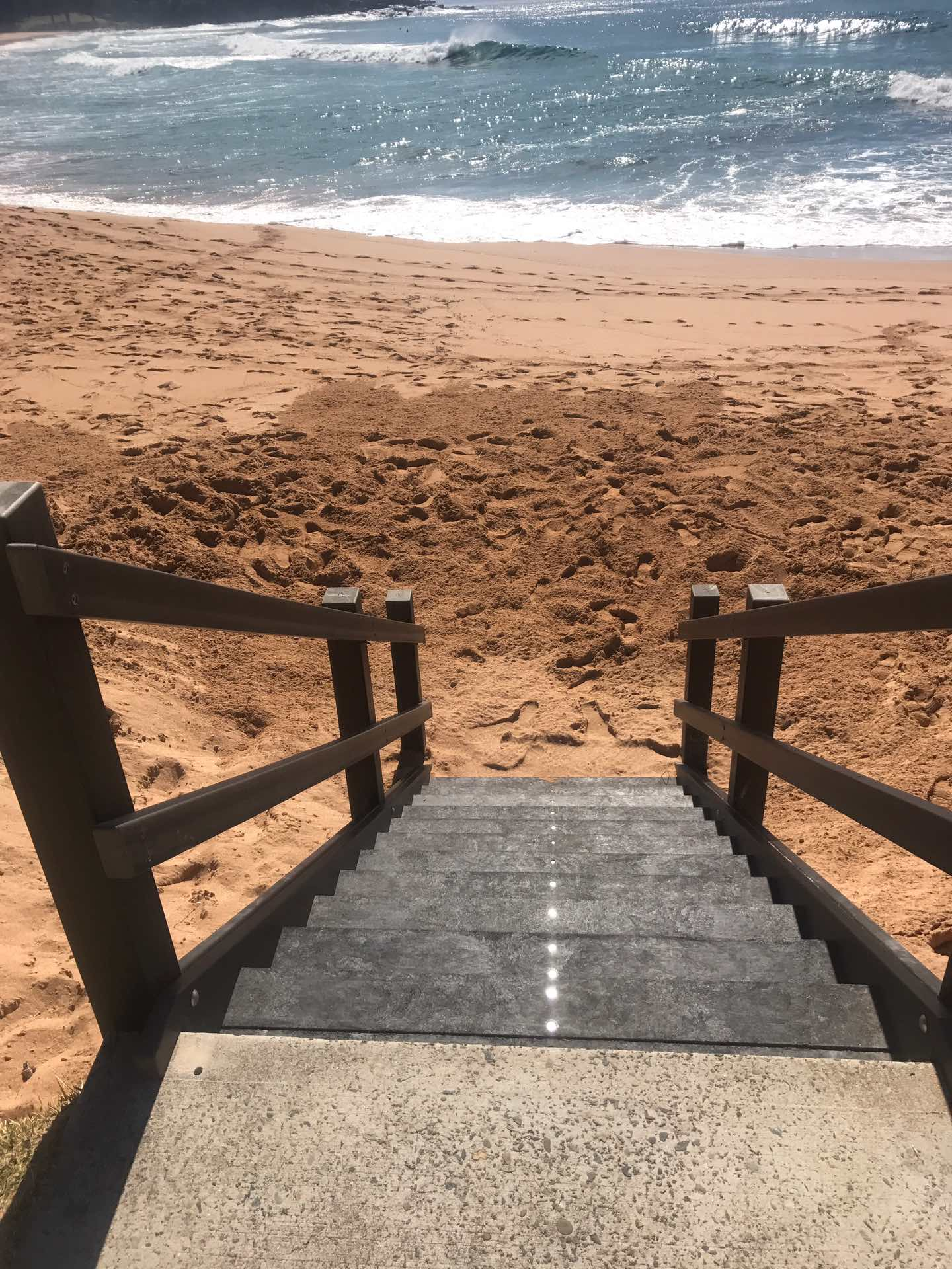 New access stairs at Whale beach. 100% recycled material zero maintenance  Whale Beach, NSW