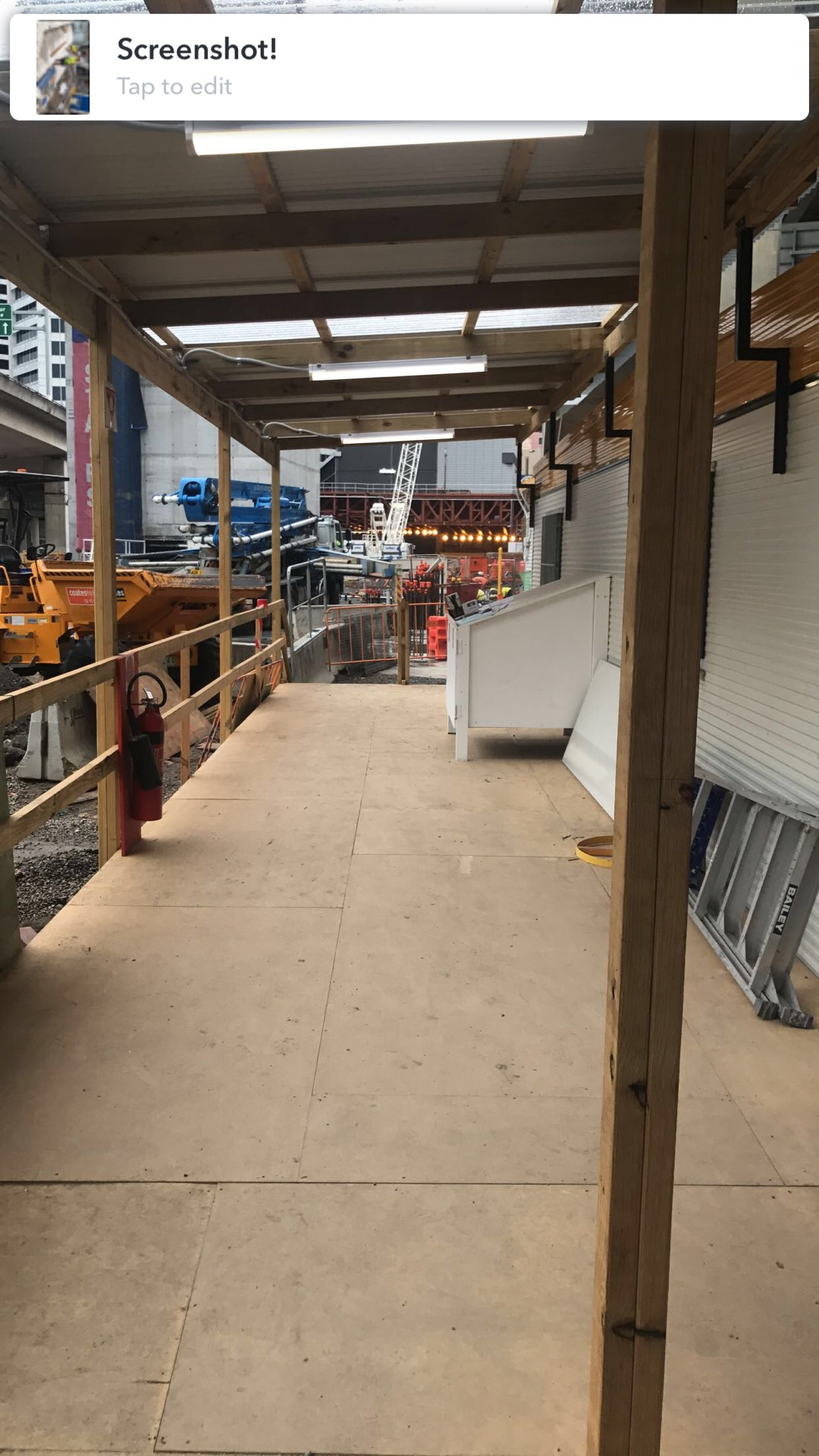 Site establishment works - temp awnings, decks & stairs  Darling Harbour, NSW