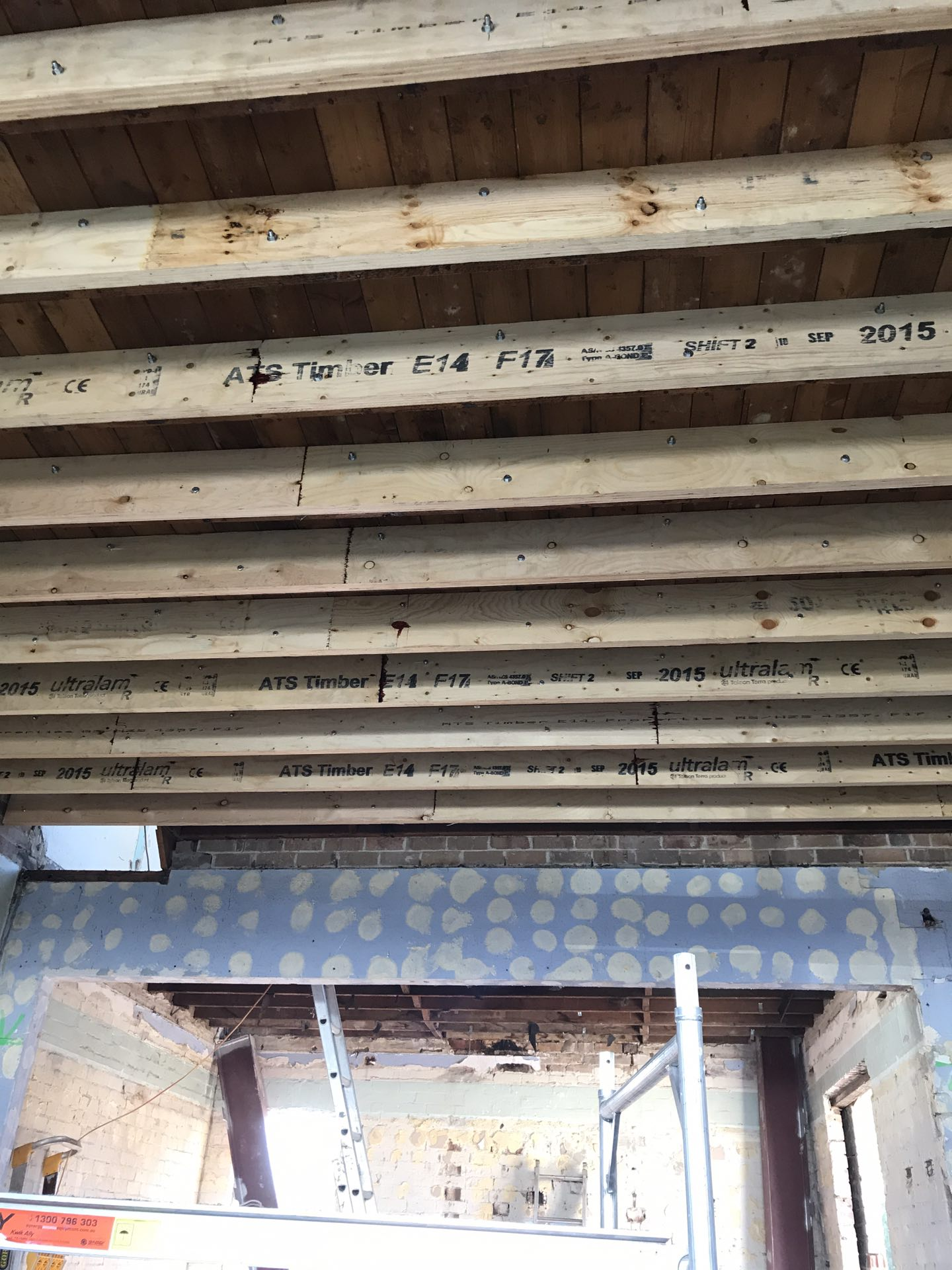 Re support of heritage 1st floor framing  Epping, NSW