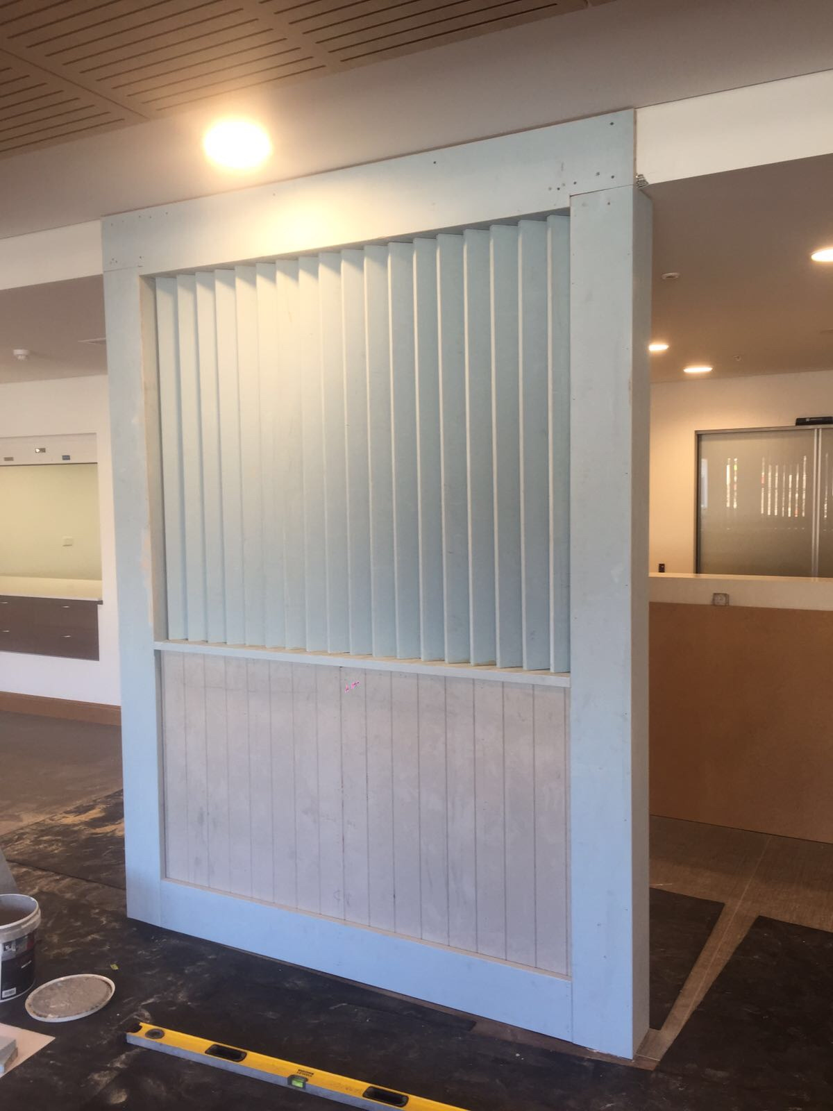 Feature screen built out of design pine  Kellyville, NSW