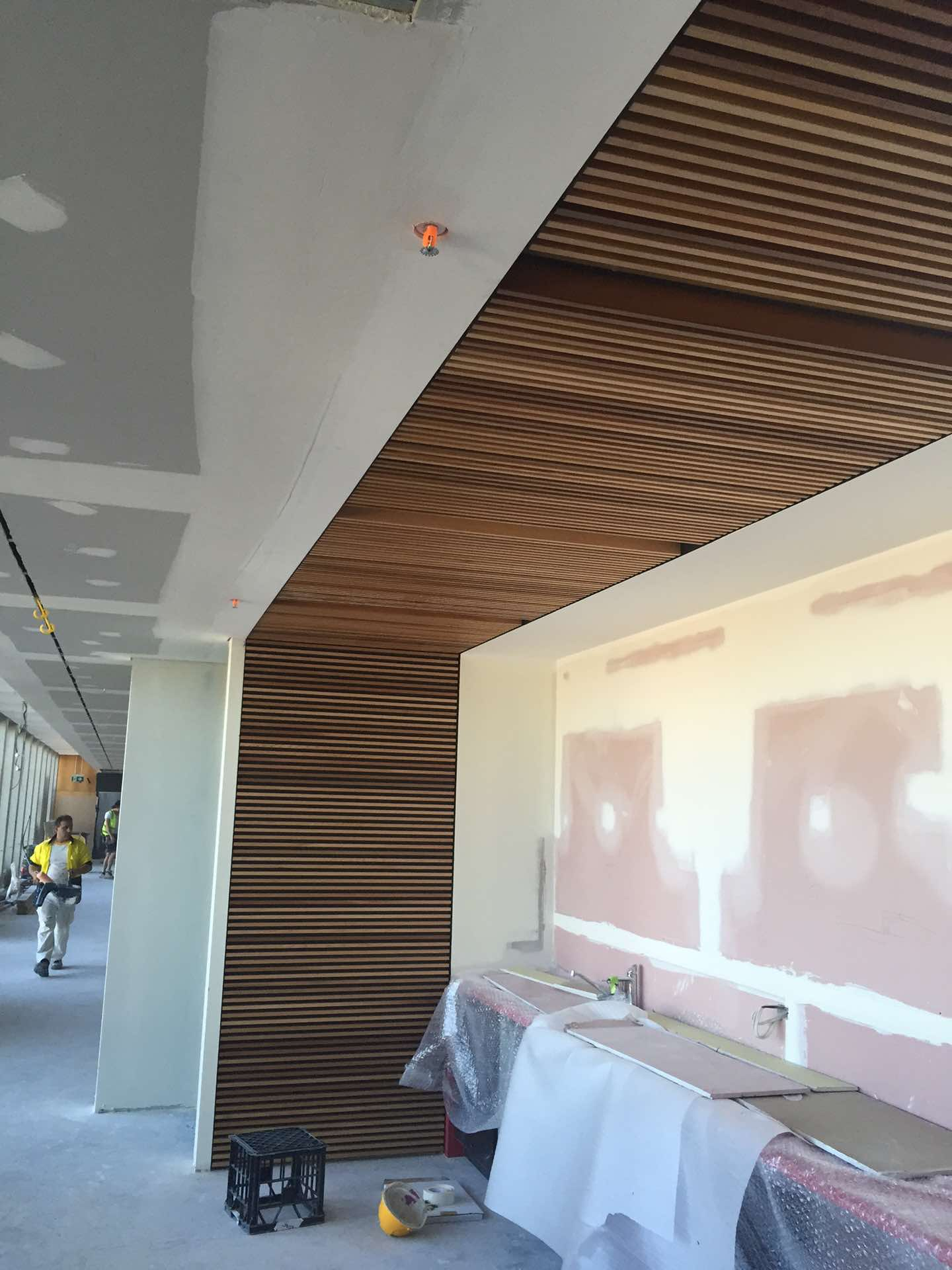 Cedar Wall Paneling Installed By GS At The NSW Uni Kensington, NSW