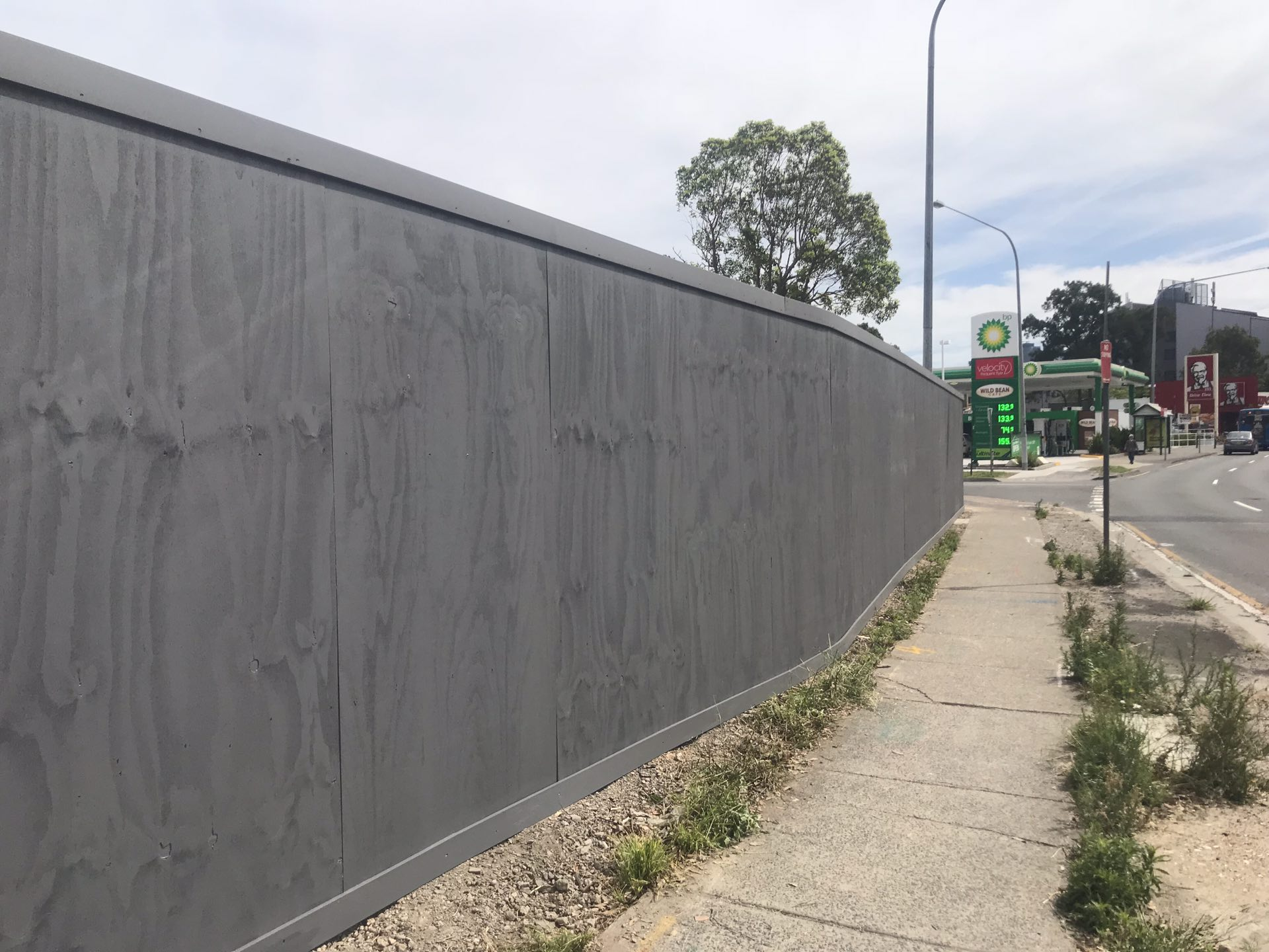 130 lineal meters of timber hoarding  Lane Cove North, NSW