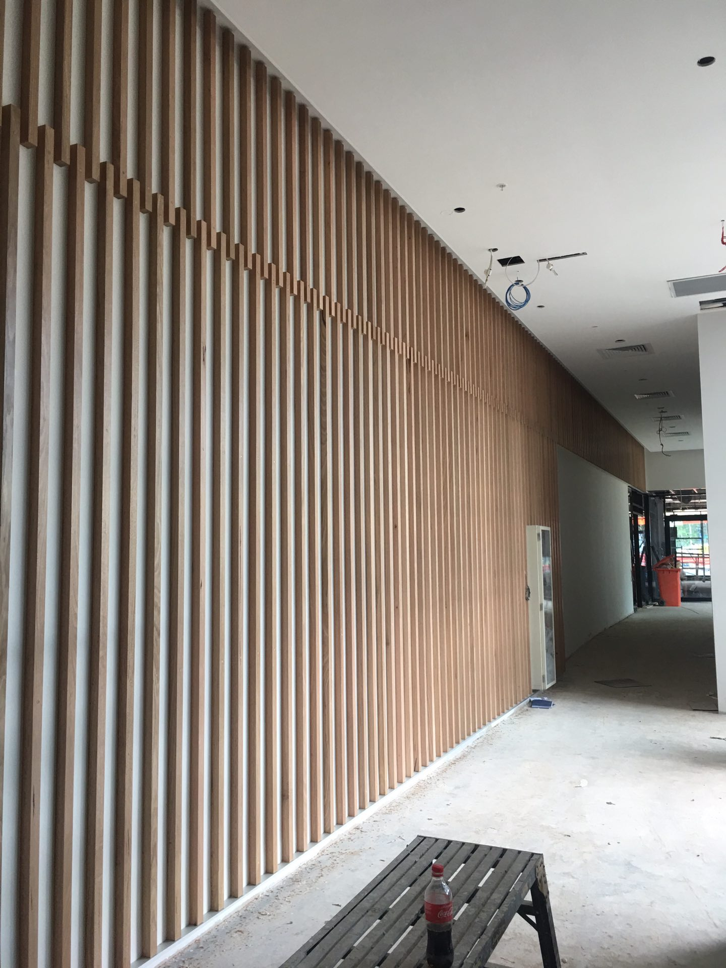 Vic ash timber feature battens  Macquarie Park, NSW