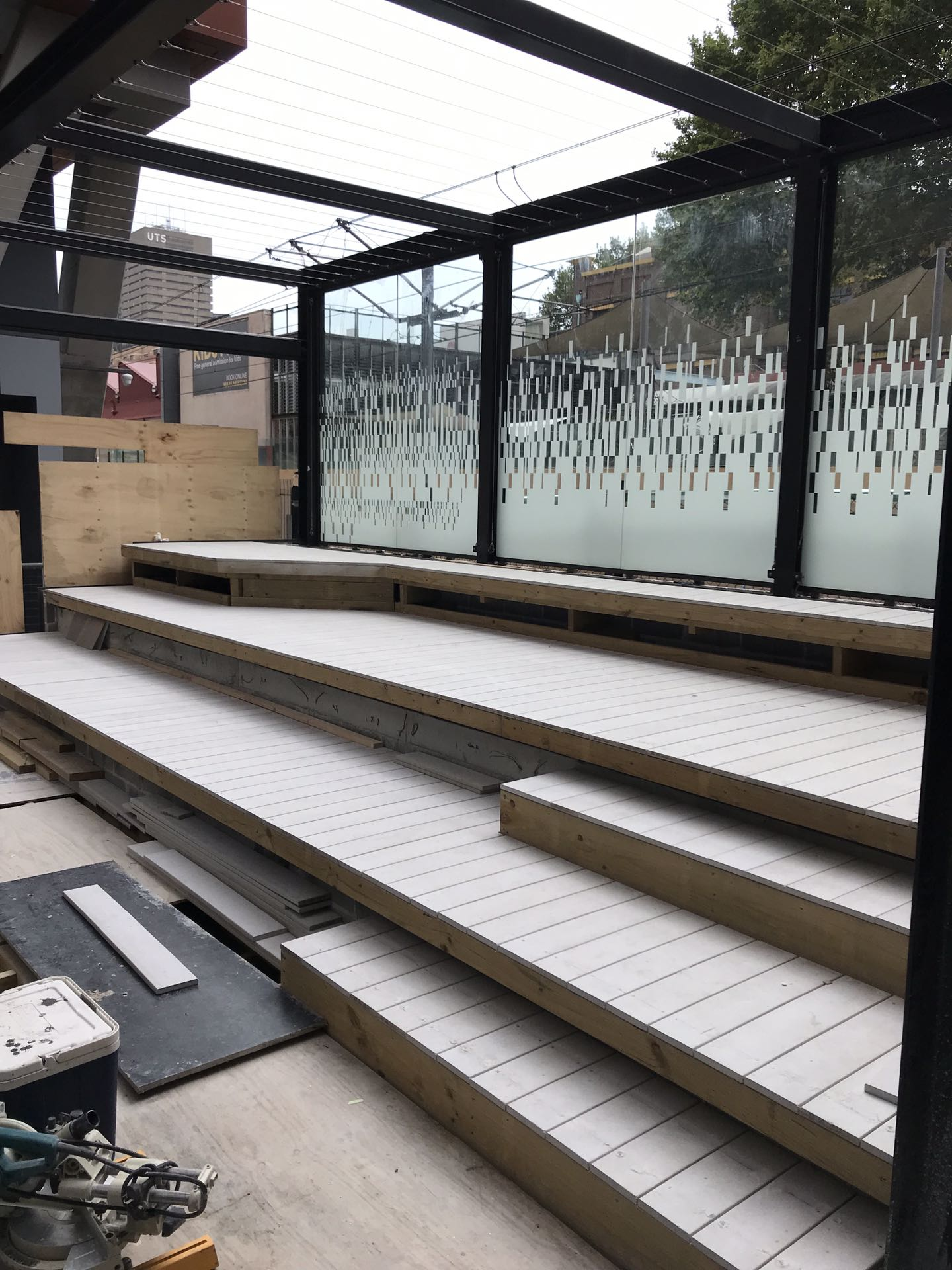Biowood - framing and deck to amphitheater  Sydney, NSW