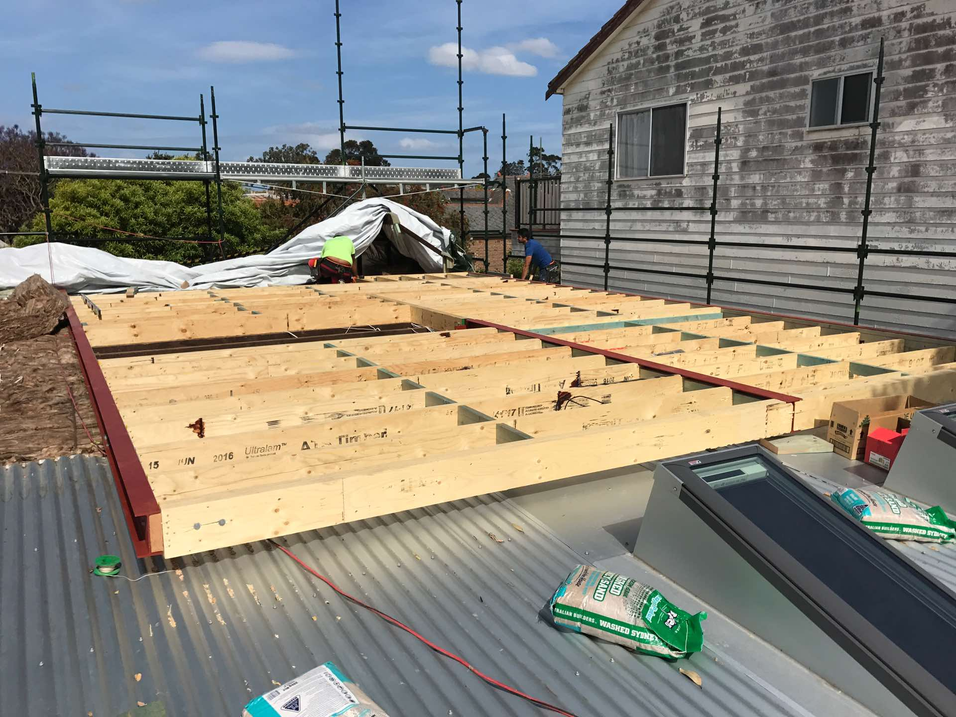 Floor framing for our first floor addition nearly complete. Walls start tomorrow! Lilyfield, NSW