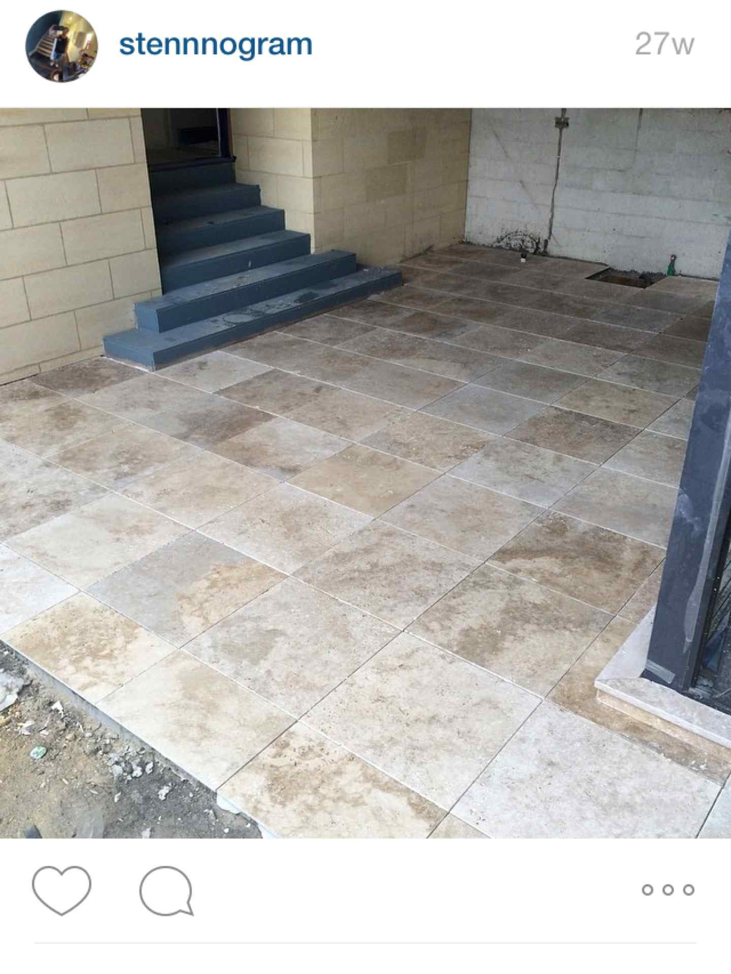 C s wall and floor tiling chris stenhouse 9 projects external travertine tiling to entertainment area and stairs sealed with prestige surfaces sealer surrey hills dailygadgetfo Gallery