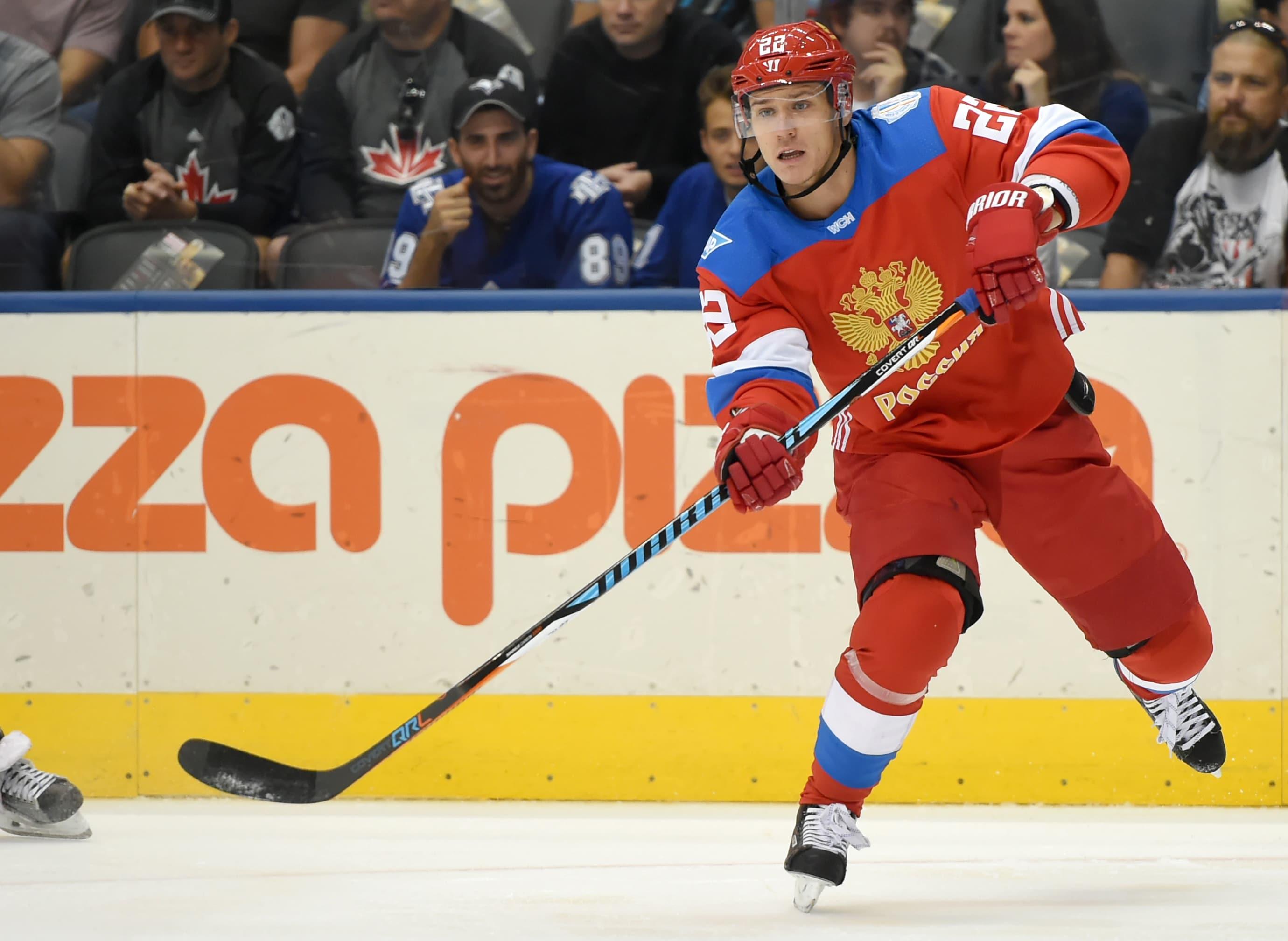 Nikita Zaitsev (22) makes a pass at the recent World Cup of Hockey at Air Canada Centre. (Dan Hamilton-USA TODAY Sports)