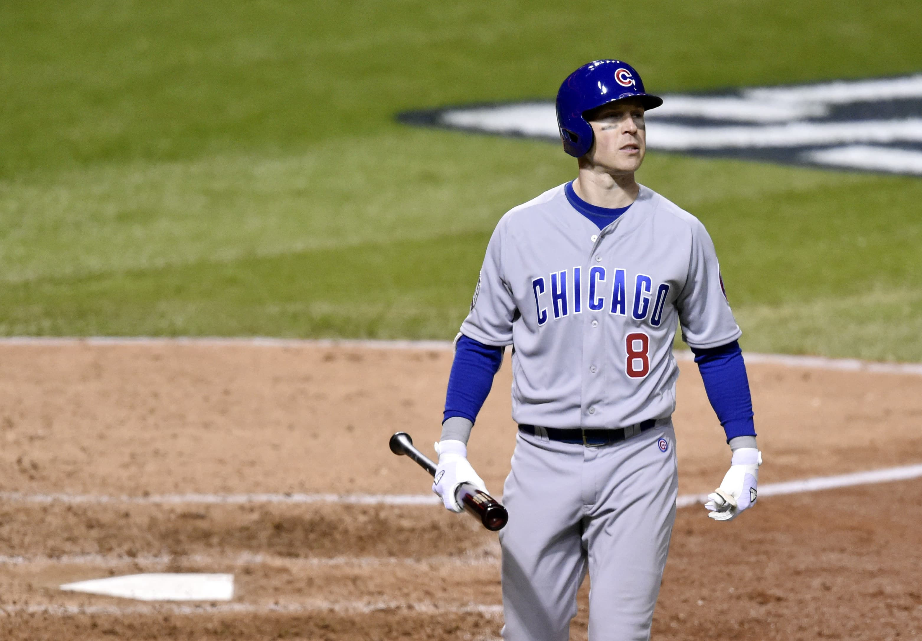 In his first start this postseason, Chris Coghlan didn't deliver, striking out twice before coming out of the game for a pinch-hitter. (David Richard/USA TODAY Sports)