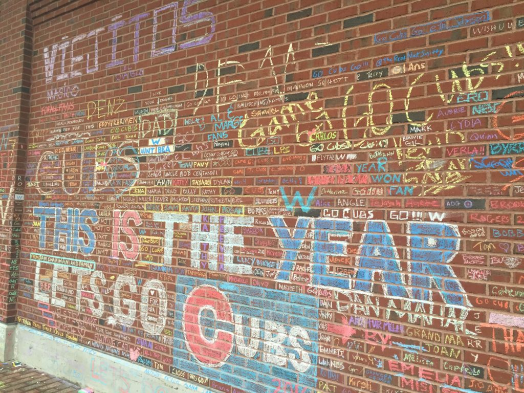 Fans Leave Their Mark On Wrigley Field Before Game 7 Part 69