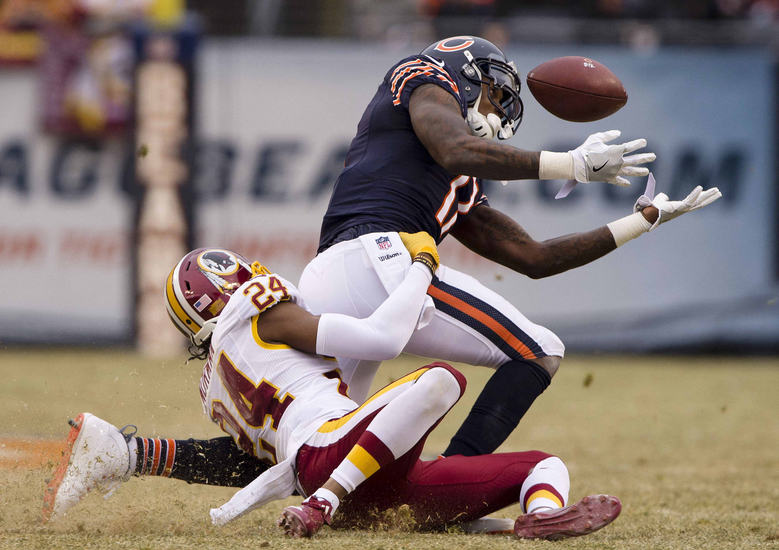 Despite playing in 12 games this season because of his PED suspension, Alshon Jeffery caught only two touchdown passes. (Jerome Miron/USA TODAY Sports)
