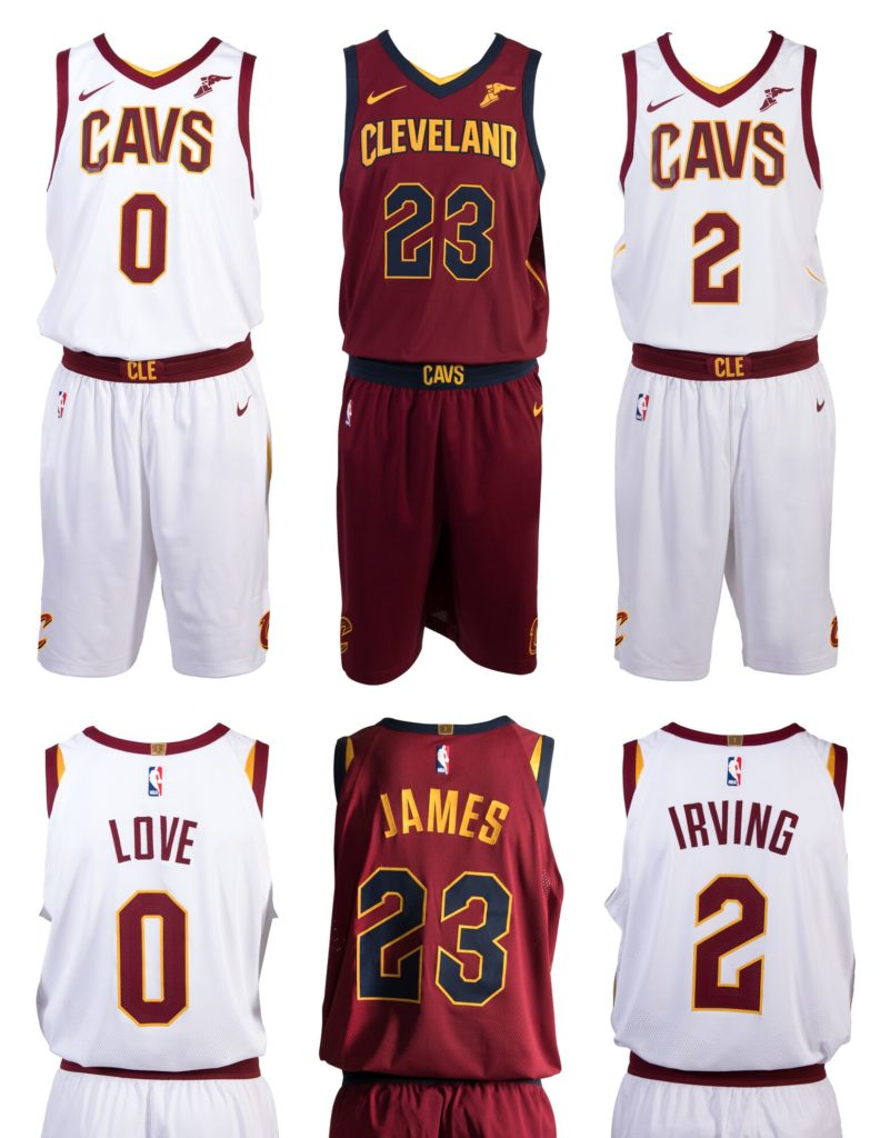 Cavs unveil new Nike uniforms for this season