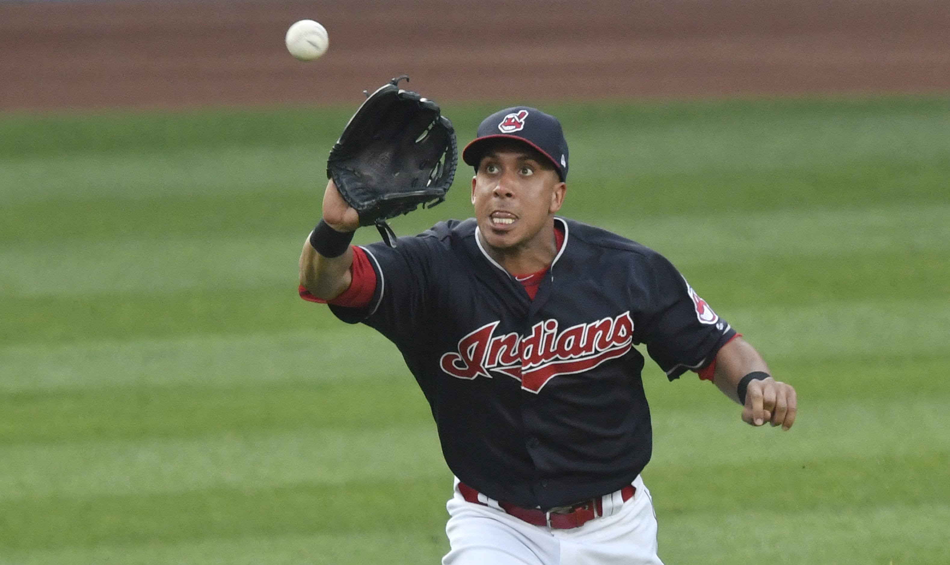 Indians' Brantley sprains right ankle against Rockies