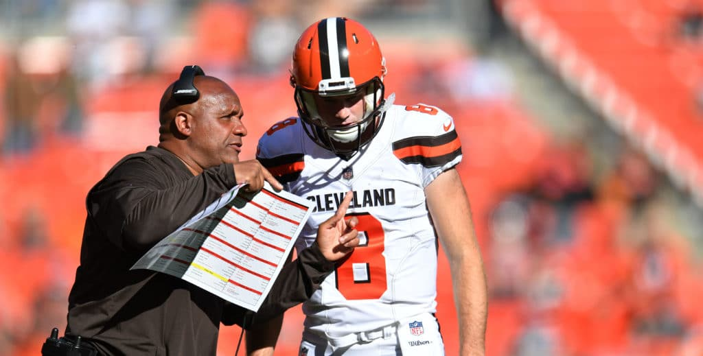 Browns' Kevin Hogan named starting quarterback for Sunday's game