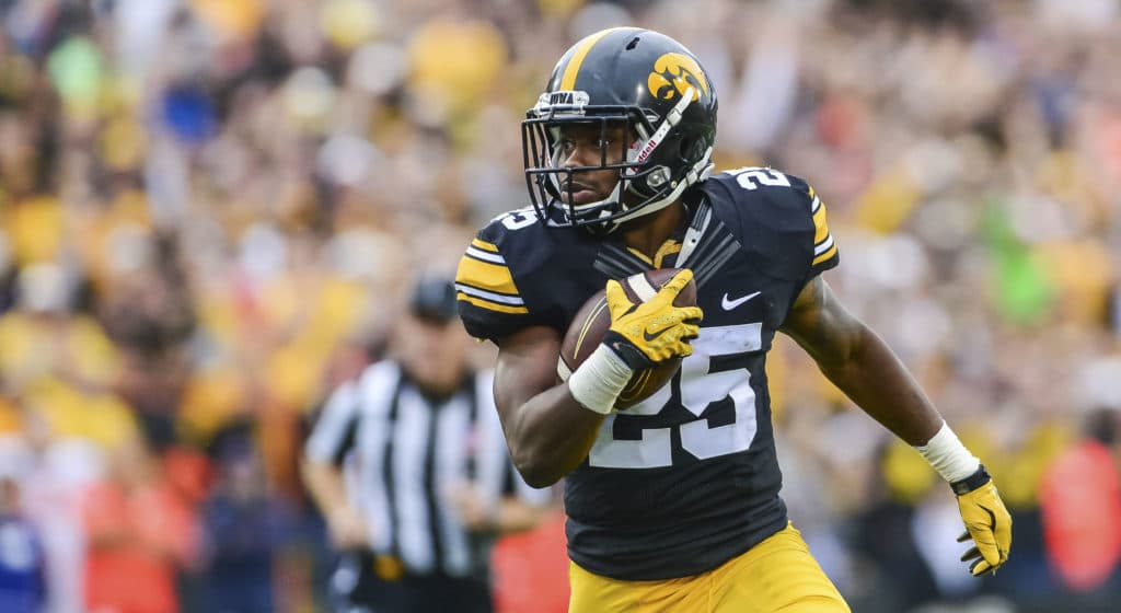 Iowa running back Akrum Wadley.