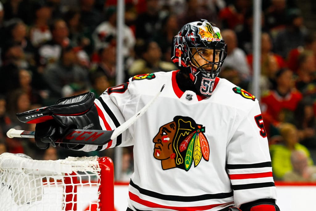 Blackhawks place Corey Crawford on injured reserve again