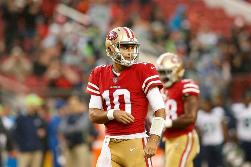Jimmy Garoppolo to make first 49ers start vs. Bears