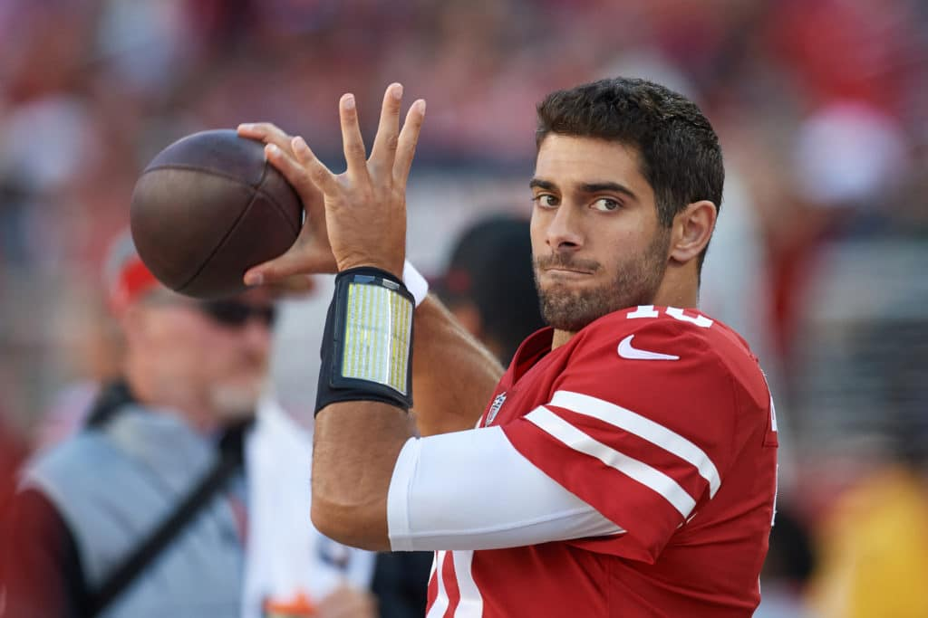 Niners scaling back plays for Jimmy Garoppolo debut