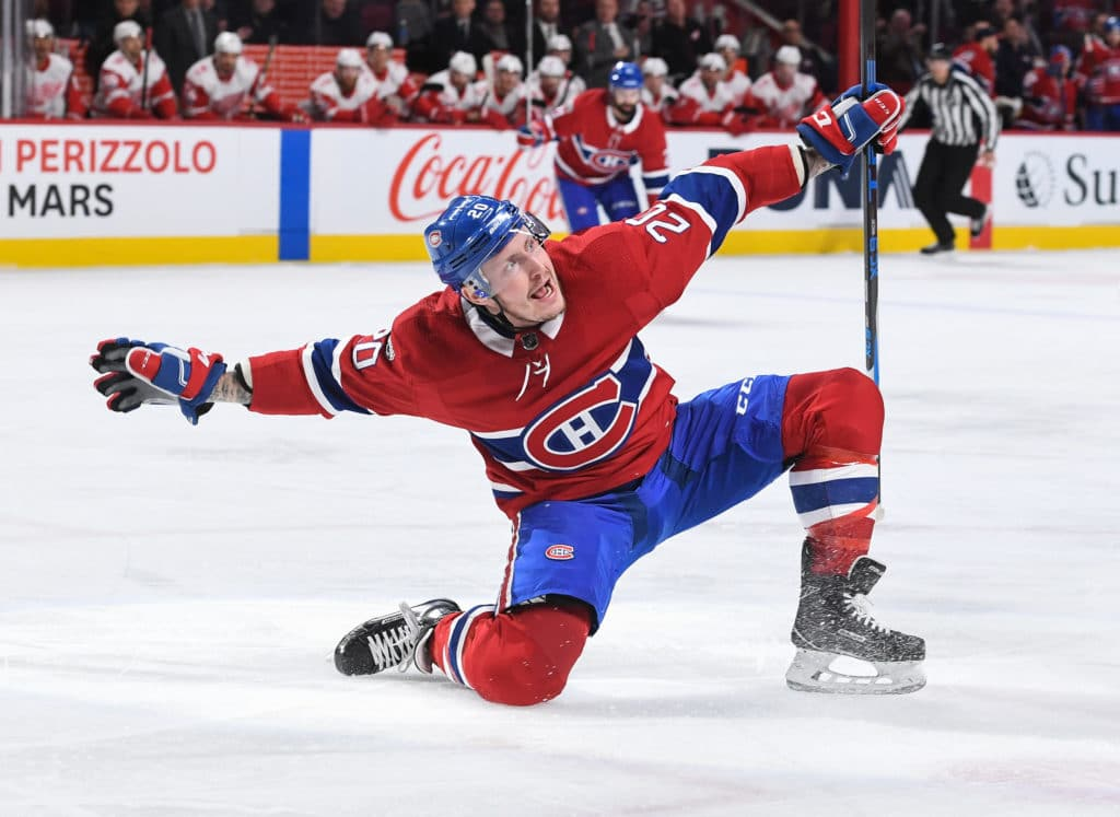 Byron has hat trick in Canadiens' 10-1 rout of Red Wings