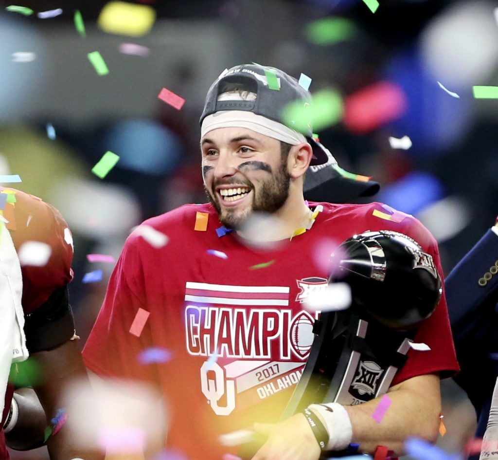 Oklahoma quarterback Baker Mayfield named one of three Heisman Trophy finalists