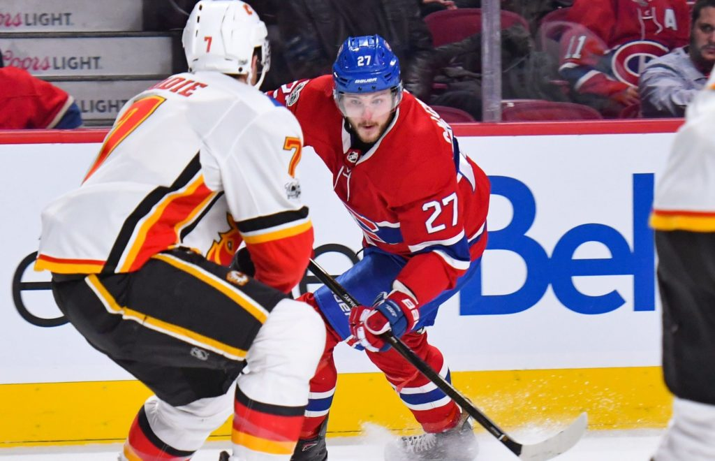 Monahan's goal in OT leads Flames over Canadiens