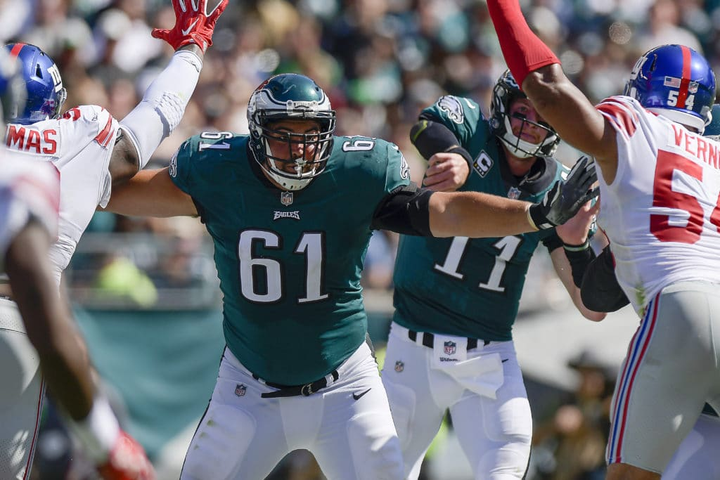 Eagles vs. Giants Week 15 inactives: LG Stefen Wisniewski out