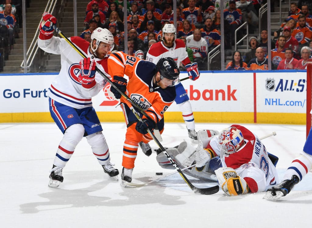 McDavid leaves late in third, Oilers beat Canadiens Four-1