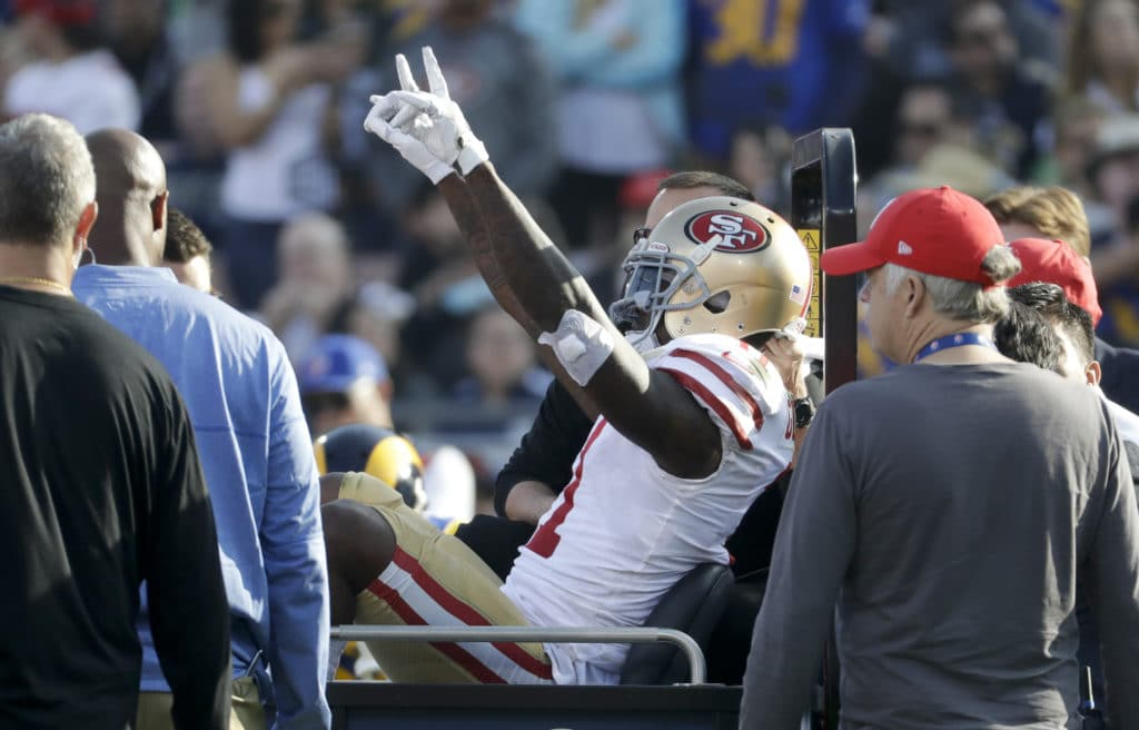 49ers WR Marquise Goodwin suffers concussion against Rams