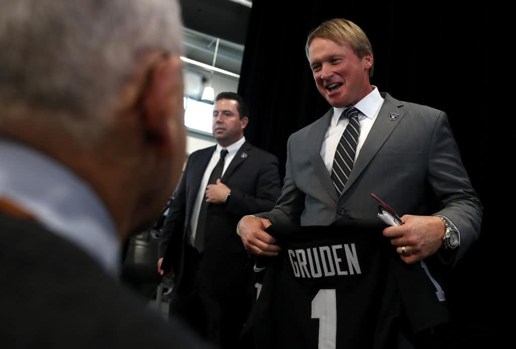 Raiders LT Donald Penn compares coach Jon Gruden to Warriors' Steve Kerr