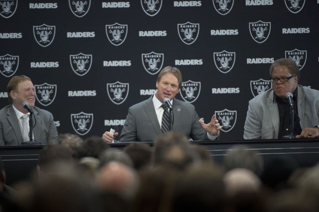 Jon Gruden welcomed back to Raiders 16 years after exit