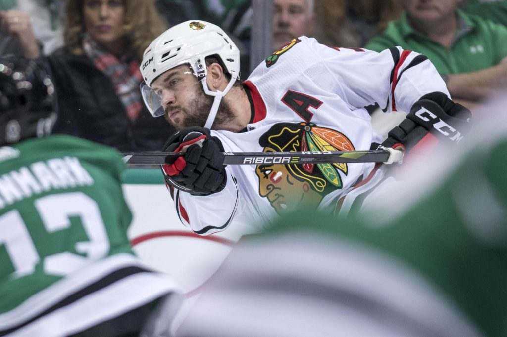 Blackhawks' Seabrook a healthy scratch Tuesday