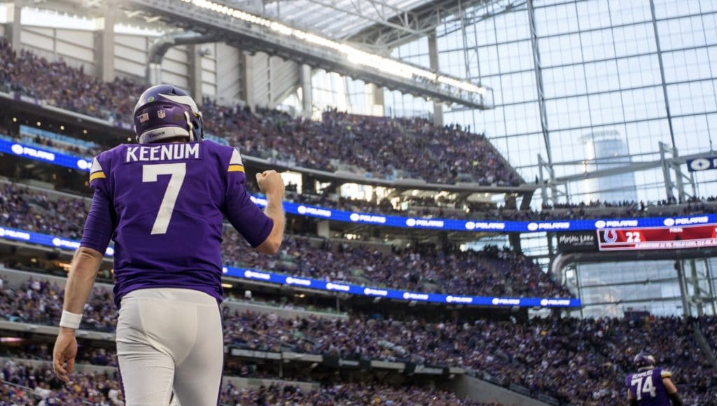 Playoff start No. 1 is no time for Case Keenum to turn timid
