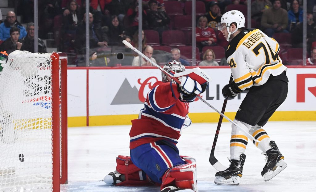 Sizzling Bruins top Canadiens in shootout
