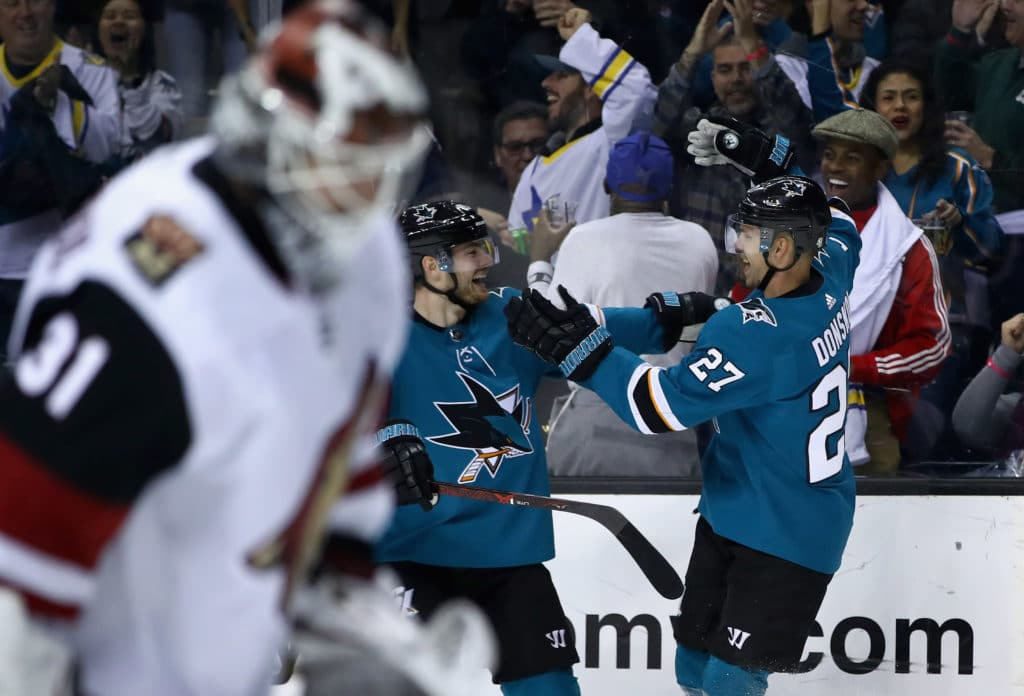 Coyotes and Sharks combine for six goals in wild first period