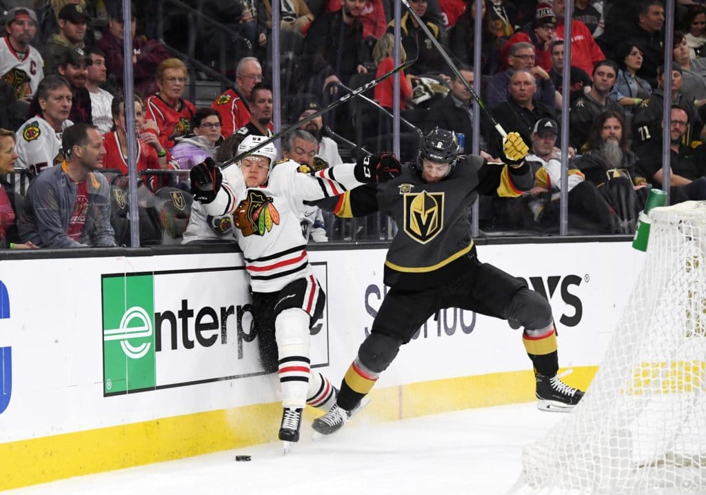 Third-period rally lifts Knights past Blackhawks
