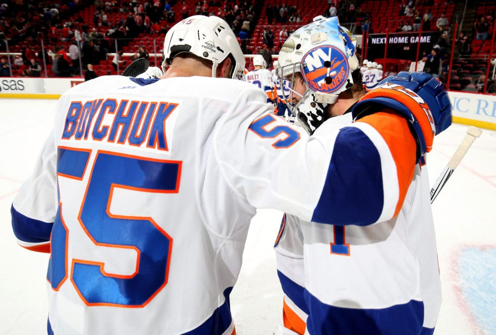Greiss makes 45 saves as Islanders blank Hurricanes