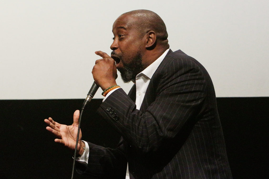 NEW YORK, NY - MAY 03:  Former NBA Player Kenny Anderson on stage during the MR. CHIBBS Opening Night screening and Q&A at the IFC Center on May 3, 2017 in New York City.  (Photo by Lars Niki/Getty Images for BMG )
