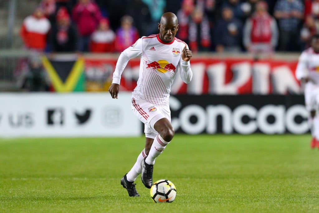HARRISON, NJ - MARCH 13:  New York Red Bulls forward Bradley Wright-Phillips (99)  during the first half of the CONCACAF Champions League Quarter-final match between the New York Red Bulls and Club Tijuana on March 13, 2018, at Red Bull Arena in Harrison, NJ.  (Photo by Rich Graessle/Icon Sportswire via Getty Images)