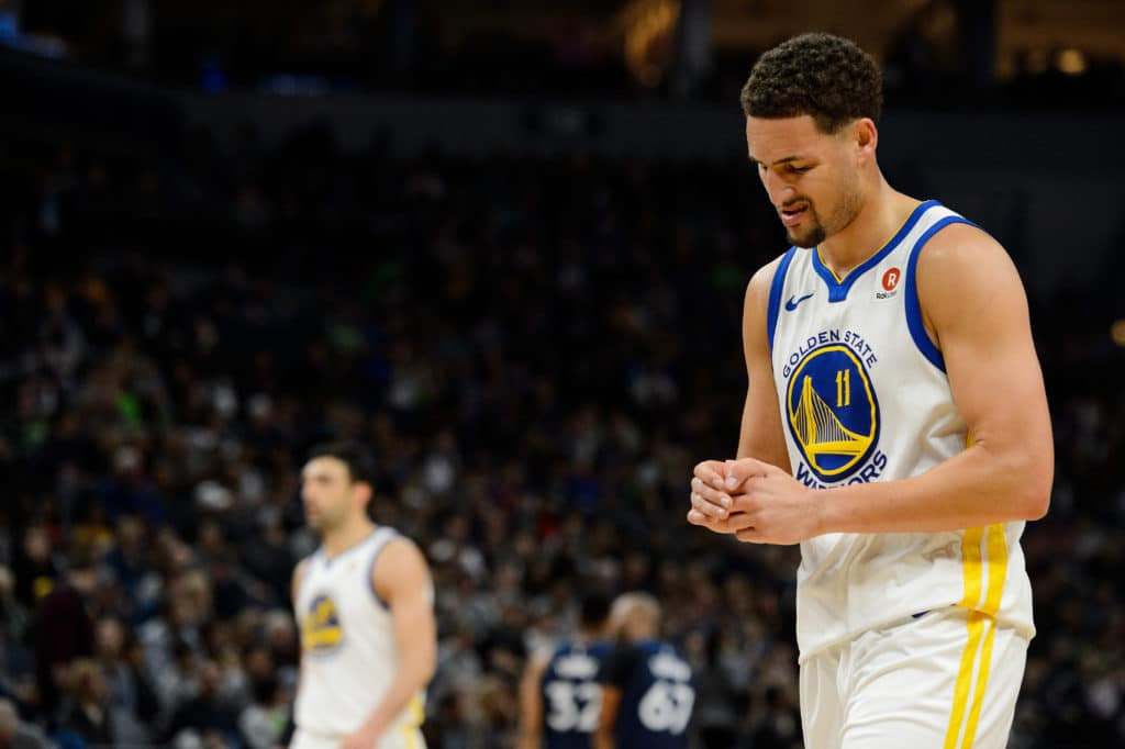 Klay Thompson (thumb) questionable for Warriors on Wednesday