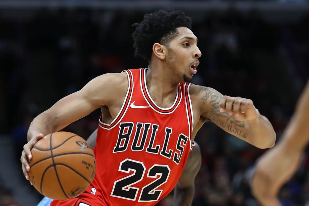 CHICAGO, USA - MARCH 13: Cameron Payne (22) of Chicago Bulls in action during the NBA basketball match between Chicago Bulls and Los Angeles Clippers at the United Center in Chicago, Illinois, United States on March 13, 2018. (Photo by Bilgin S. Sasmaz/Anadolu Agency/Getty Images)
