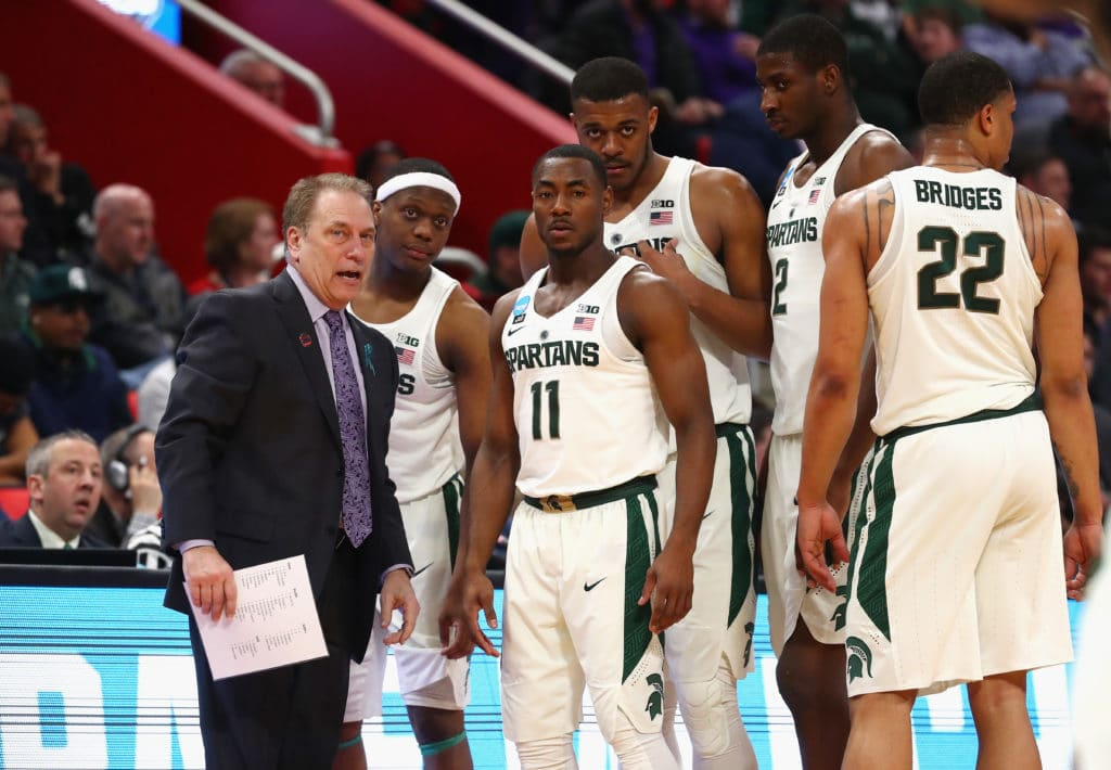 NCAA Latest: Bridges rocks rim for MSU, Cuse star fouls out