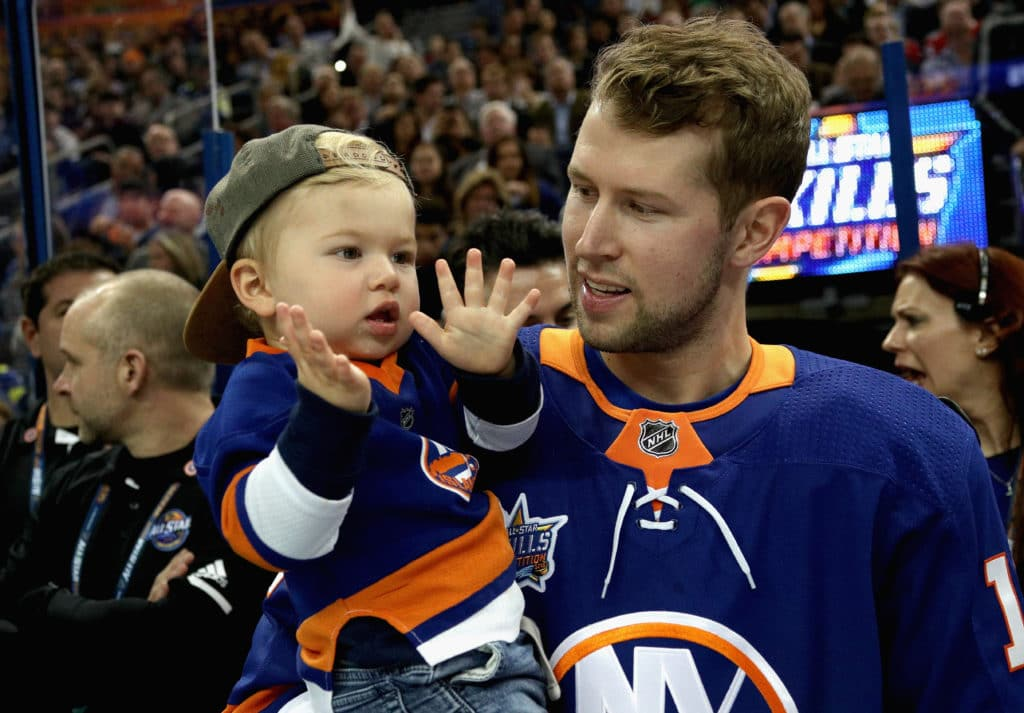TAMPA, FL - JANUARY 27: Josh Bailey #12 of the New York Islanders looks on during the Dunkin Donuts NHL Passing Challenge during 2018 GEICO NHL All-Star Skills Competition at Amalie Arena on January 27, 2018 in Tampa, Florida.  (Photo by Dave Sandford/NHLI via Getty Images)