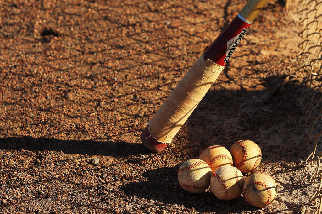KISSIMMEE, FL - JANUARY 28:  Baseballs and a Fungo Bat lie in the dirt during the Jim Evans Academy of Professional Umpiring on January 28, 2011 at the Houston Astros Spring Training Complex  in Kissimmee, Florida.  Jim Evans was a Major League Umpire for 28 years that included umpiring four World Series.  Many of his students have gone on to work on all levels of baseball including the Major Leagues.  (Photo by Al Bello/Getty Images)