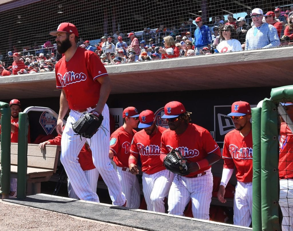 Phillies pitcher Jake Arrieta tosses two innings in spring debut