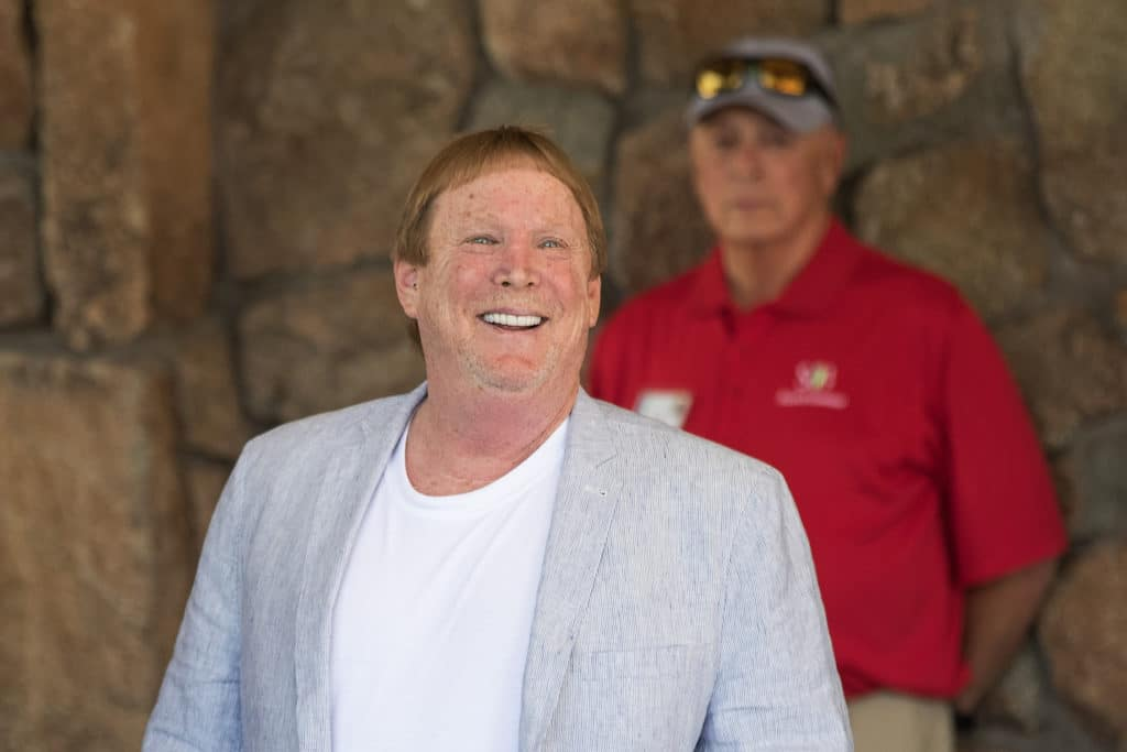 SUN VALLEY, ID - JULY 13: Mark Davis, owner of the Oakland Raiders football team, attends the third day of the annual Allen & Company Sun Valley Conference, July 13, 2017 in Sun Valley, Idaho. Every July, some of the world's most wealthy and powerful businesspeople from the media, finance, technology and political spheres converge at the Sun Valley Resort for the exclusive weeklong conference. (Photo by Drew Angerer/Getty Images)