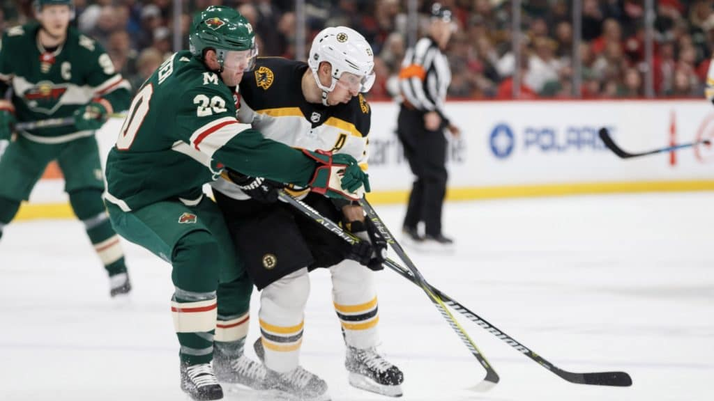 Ryan Suter and Brad Marchand