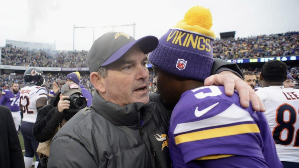 Mike Zimmer and Teddy Bridgewater
