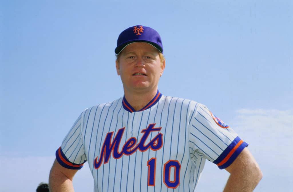 New York Mets baseball team member, Rusty Staub, in 1981.