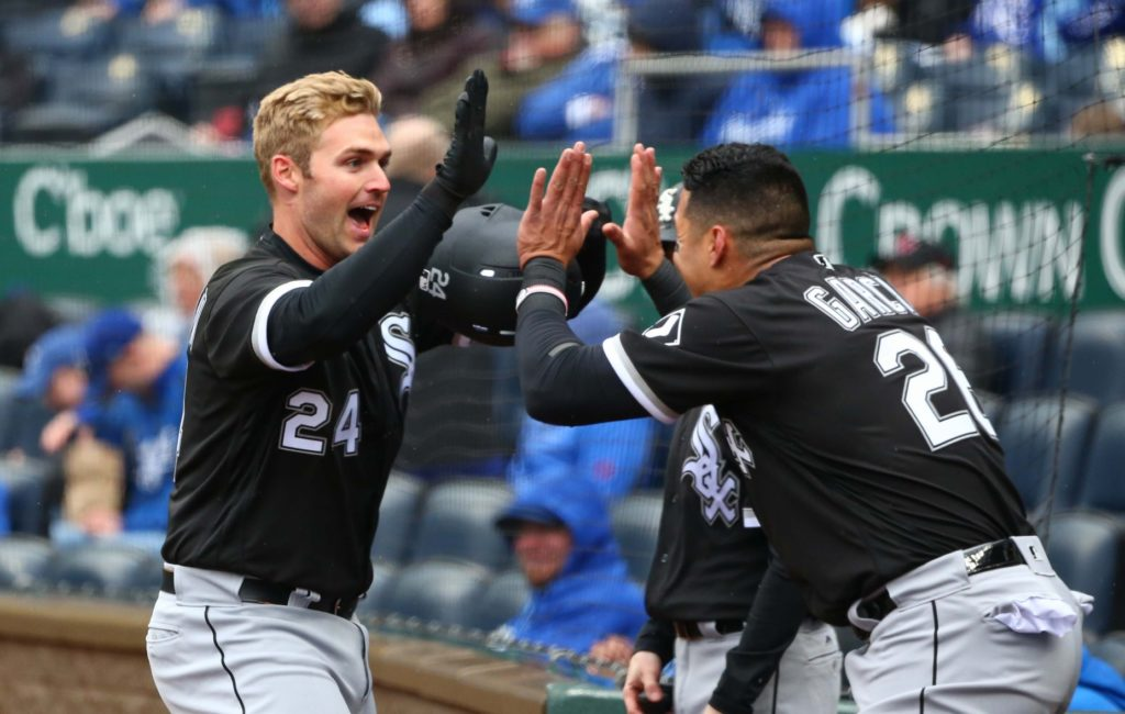 White Sox belt six opening-day homers, crush Royals 14-7