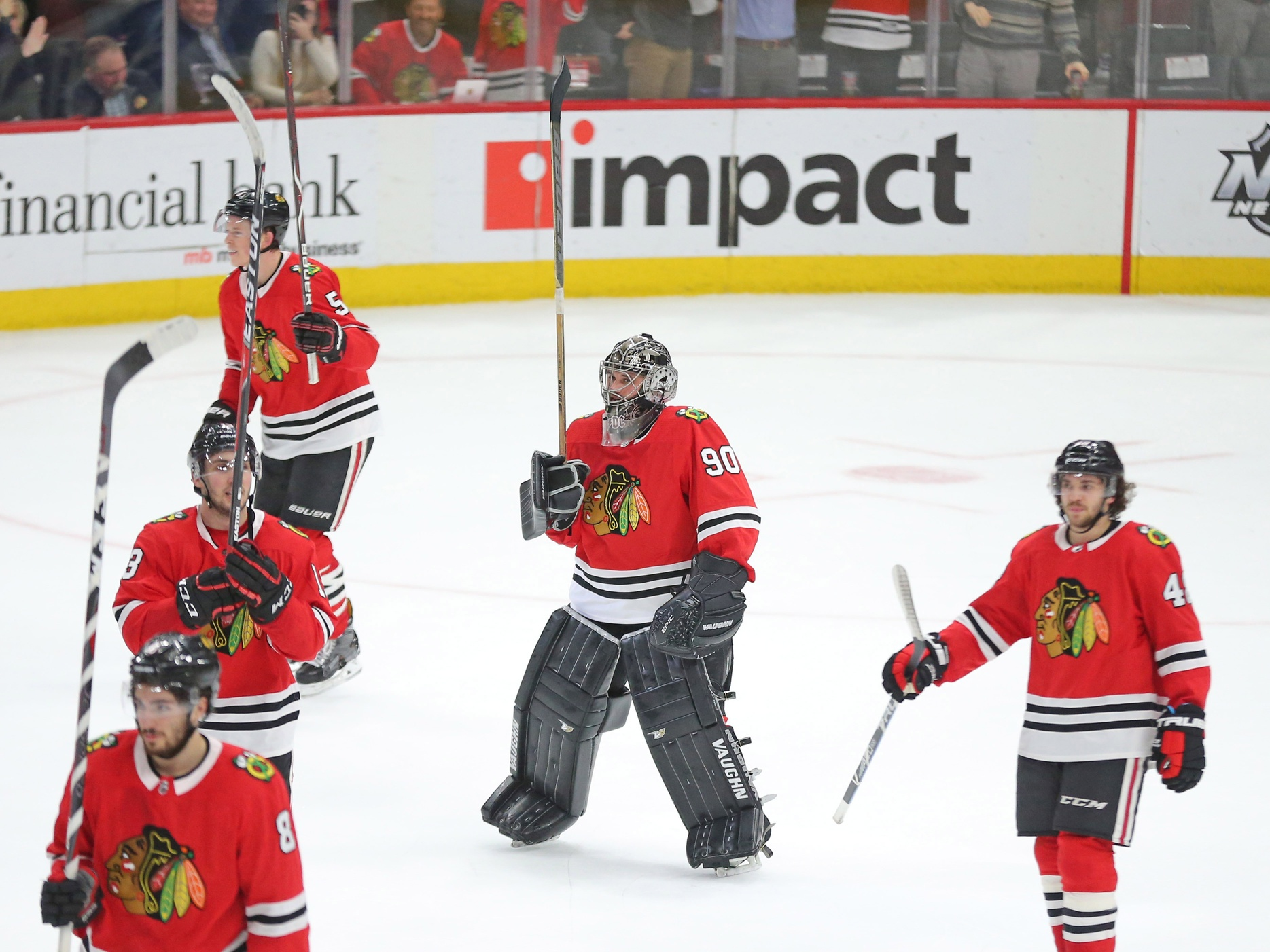 Blackhawks play 36-year-old local accountant as emergency goalie