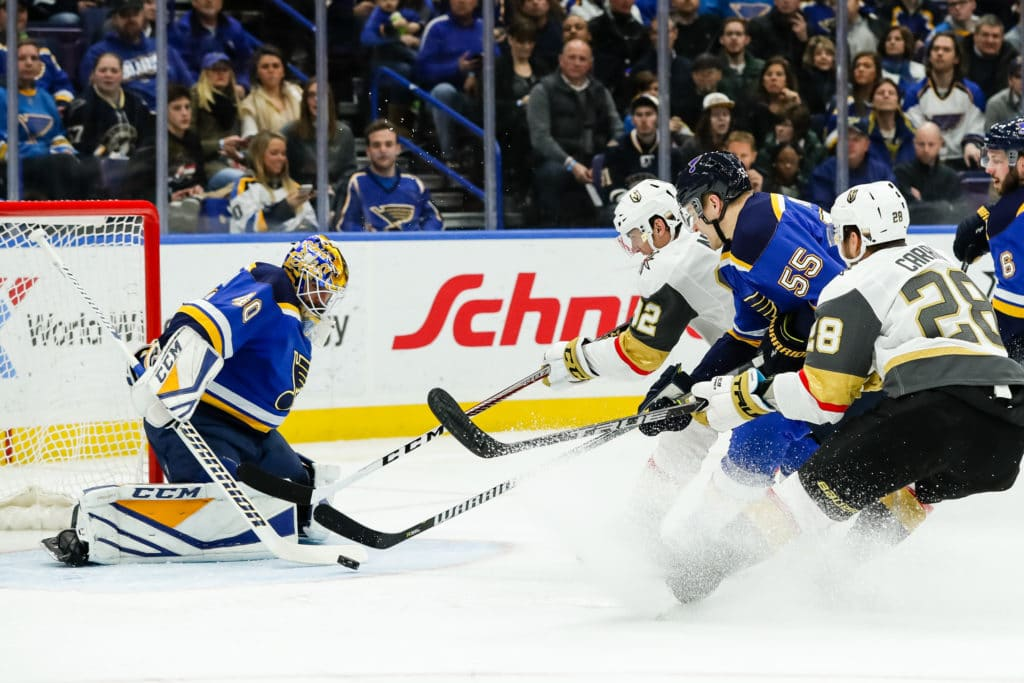 Marchessault carries Golden Knights over Blues in OT